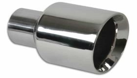 "Vibrant Performance 3.5"" Round Stainless Steel Tip (Double Wall, Angle Cut)"