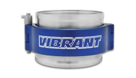 "Vibrant Performance HD Clamp Assembly for 2.5"" OD Tubing - Anodized Blue Clamp"