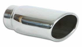 "Vibrant Performance 4.5"" x 3"" Oval Stainless Steel Tip (Single Wall, Angle Cut)"