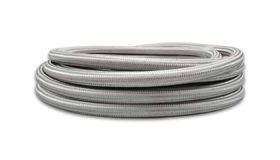 Vibrant Performance 10ft Roll of Stainless Steel Braided Flex Hose with PTFE Liner; AN Size: -4