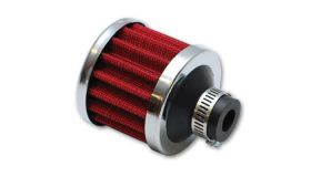 """Vibrant Performance Crankcase Breather Filter - Clamp on Style with Chrome Cap, .375"""" Inlet ID"""